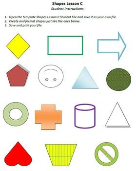 Shapes Lesson C Technology Lesson Plan & Materials