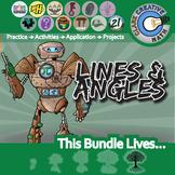 Shapes, Lines & Angles -- Pre-Algebra & Geometry Curriculum Bundle