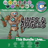 Shapes, Lines & Angles -- Pre-Algebra & Geometry Curriculum Bundle