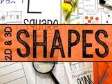 Shapes MEGA Bundle (2-D & 3-D Shape Activities)