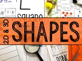 Shapes MEGA Bundle (Collection of 2-D & 3-D Shape Activities)