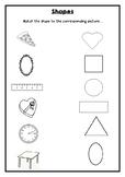 Shapes Match - Worksheet