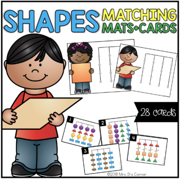Shapes Matching Mats and Activity Cards (Patterns, Colors, and Matching)