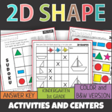 2D Shapes Activities, Games and Centers