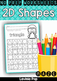Shapes Maze No Prep Worksheets
