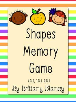 Shapes Memory Game