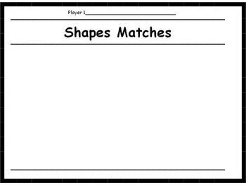 Shapes Memory Game