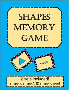 Shapes memory matching teaching resources teachers pay teachers shapes memory matching game shapes memory matching game fandeluxe Choice Image