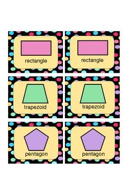 Shapes Memory Matching Game