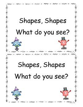 Shapes Mini Book