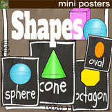 Shapes Mini Posters 2D and 3D