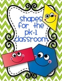 Shapes Mini-Posters for PK-1 Classrooms