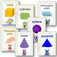 2D and 3D SHAPES Posters and Flash Cards MONSTERS Themed Classroom Display