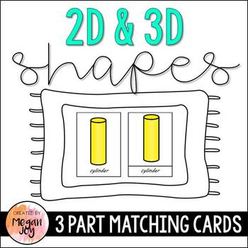 Shapes:  Montessori 3 Part Matching Cards