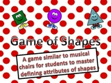 Shapes Musical Chairs Activity