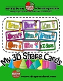 Shapes - My 3D Shape Cards