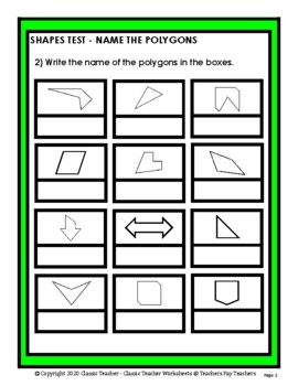 Shapes - Name the Polygons - Grades 4-5 (4th-5th Grade)