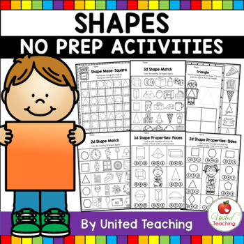 Shapes No Prep Activities