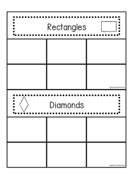 Shapes Non-Identical Sorting Activities