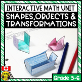 Shapes Objects and Transformations Interactive Notebook Grades 5-6