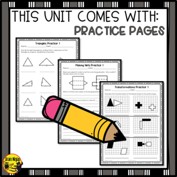 Shapes, Objects and Transformations Interactive Notebook Grades 4-5
