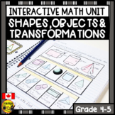 Shapes Objects and Transformations Interactive Notebook Grades 4-5