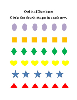 Shapes Ordinal Set 2 Fourth Fifth Sixth Sequencing Math Cr
