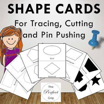 Shapes Pack - Flash Cards, Cutting, Tracing, Pin Pushing