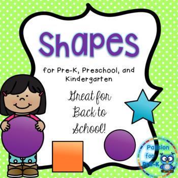 Shapes Pack for Pre-K, Preschool, and Kindergarten