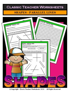 Shapes - Parallel Lines - Grades 3-6 (3rd-6th Grade)