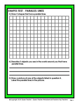 Shapes - Parallel Lines - Grades 4-5 (4th-5th Grade)
