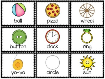 Shapes Picture Cards- for {Write the Room} or any Shape Sorting Activity