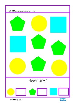 Shapes Picture Count 1-10 Autism Special Education Basic Concepts