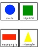Shapes Picture Word Bank and Picture Cards