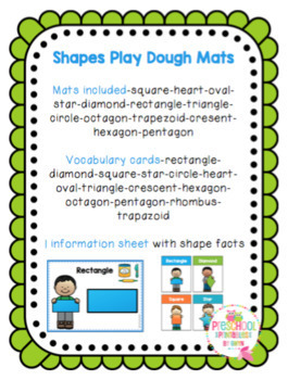 Shapes Play Dough Mats