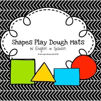 (Freebie) Shapes Play Dough Mats in English & Spanish