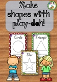 Shapes Play-doh placemats