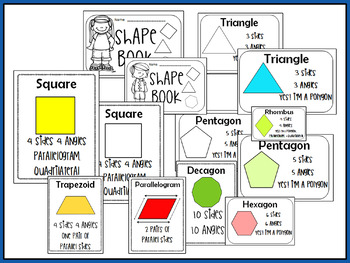 Shapes Polygons Posters Mini Book
