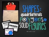 Shapes, Polygons, Quadrilaterals, and Solid Figures {2D 3D Shapes}