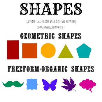 Elements of Art- SHAPE poster!