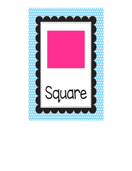 Shape Posters (bright colors)