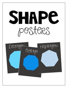 Shapes Poster Set