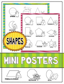 Shapes:  Mini Posters (Basic Geometric Shapes)