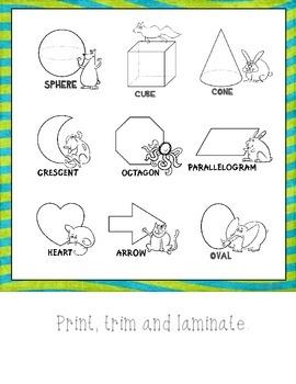 Shapes:  Mini Posters (Basic Geometric Shapes)