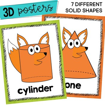 Shapes Posters 2D 3D What Does the SHAPE Say?