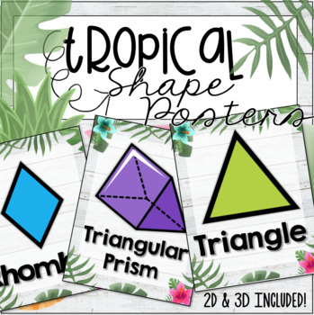 Shape Posters (2D & 3D included!) - Tropical Theme