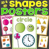 Shapes Posters (2D Shapes & 3D Shapes)
