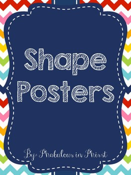 Rainbow Chevron Shapes Posters
