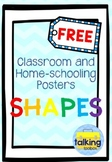 FREE 2D Ice-Cream Chevron Shapes Display Posters