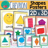 Chevron Shapes Posters 2D and 3D